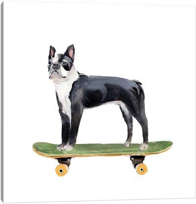 Pups on Wheels IV Canvas Art Print