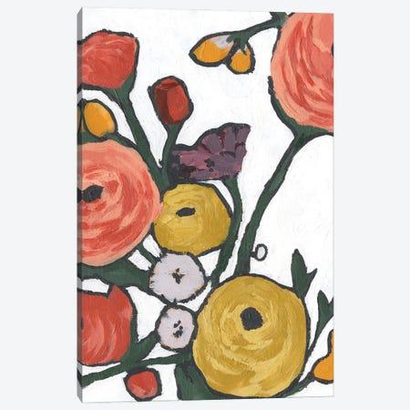 Stretching Blooms II Canvas Print #AWR254} by Annie Warren Canvas Art