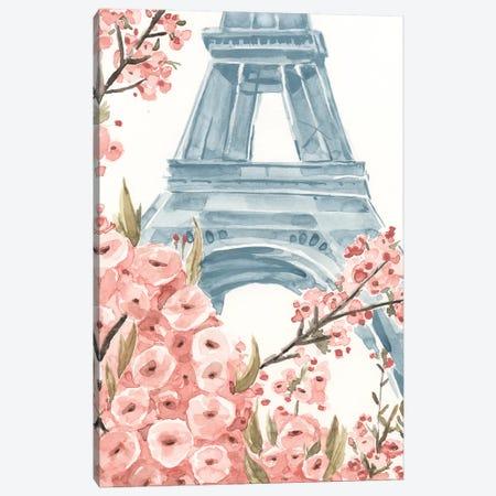 Paris Cherry Blossoms I Canvas Print #AWR29} by Annie Warren Canvas Art Print