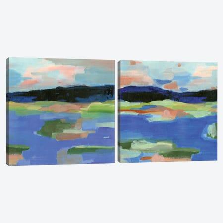 Blue Landing Diptych Canvas Print Set #AWR2HSET001} by Annie Warren Canvas Art Print