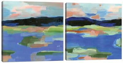 Blue Landing Diptych Canvas Art Print