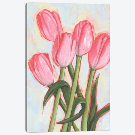 Peppy Tulip I Canvas Print #AWR31} by Annie Warren Canvas Artwork