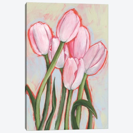 Peppy Tulip II Canvas Print #AWR32} by Annie Warren Canvas Art