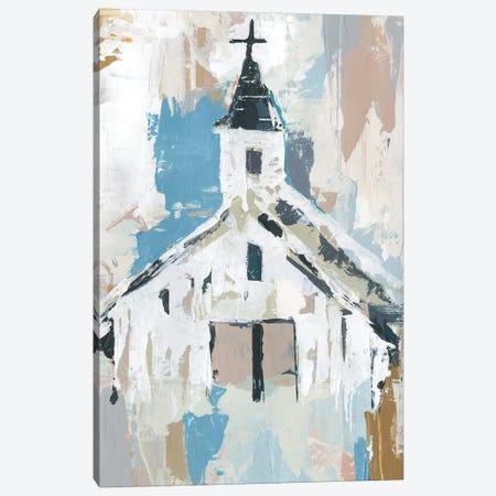 Sunday Chapel I Canvas Print #AWR41} by Annie Warren Canvas Print
