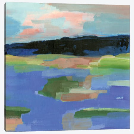Blue Landing I Canvas Print #AWR45} by Annie Warren Canvas Wall Art