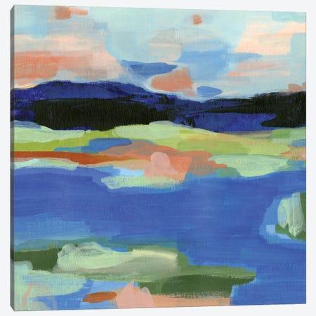 Blue Landing II Canvas Print #AWR46} by Annie Warren Canvas Art