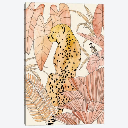 Blush Cheetah I Canvas Print #AWR47} by Annie Warren Canvas Artwork