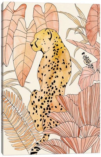 Blush Cheetah I Canvas Art Print