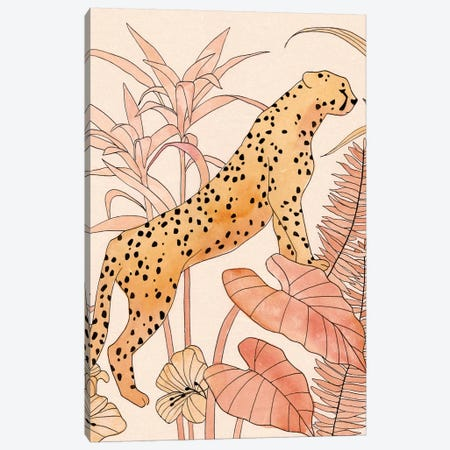 Blush Cheetah II Canvas Print #AWR48} by Annie Warren Canvas Print