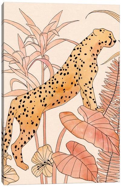 Blush Cheetah II Canvas Art Print