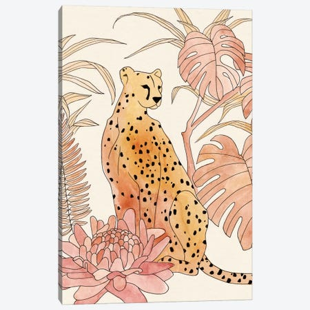 Blush Cheetah III Canvas Print #AWR49} by Annie Warren Art Print