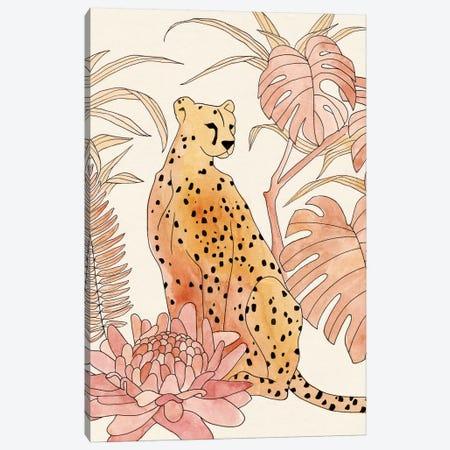 Blush Cheetah III Canvas Print #AWR49} by Annie Warren Art Print
