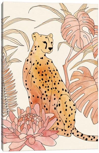 Blush Cheetah III Canvas Art Print
