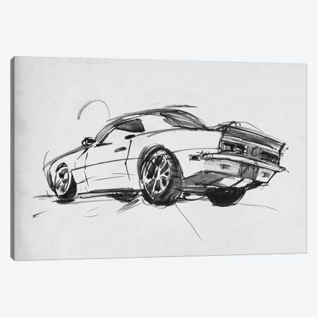 Classic Car Sketch II Canvas Print #AWR53} by Annie Warren Canvas Art