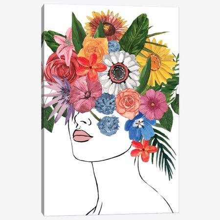 Flower Lady I Canvas Print #AWR56} by Annie Warren Art Print