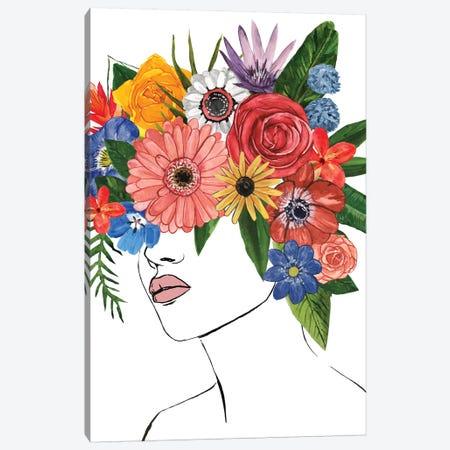 Flower Lady II Canvas Print #AWR57} by Annie Warren Art Print