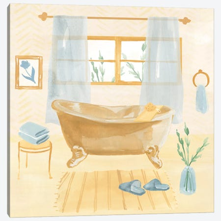 Golden Bath II Canvas Print #AWR59} by Annie Warren Canvas Wall Art