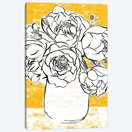 Golden Peony I Canvas Print #AWR60} by Annie Warren Art Print