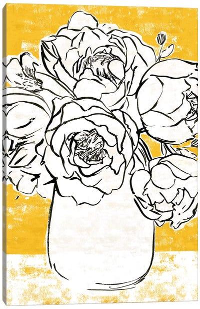 Golden Peony I Canvas Art Print