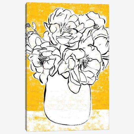 Golden Peony II Canvas Print #AWR61} by Annie Warren Canvas Art Print