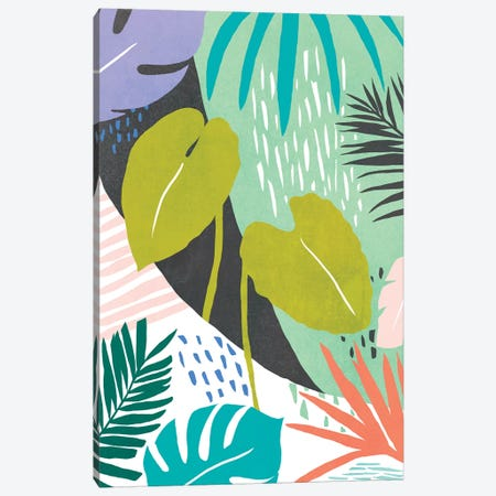 Jazzy Jungle I Canvas Print #AWR64} by Annie Warren Canvas Art