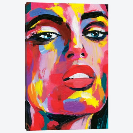 Prismatic Pout III Canvas Print #AWR71} by Annie Warren Canvas Artwork