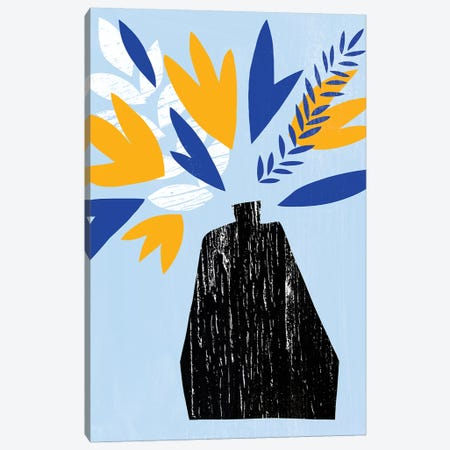 Ruffled Vase II Canvas Print #AWR73} by Annie Warren Canvas Artwork