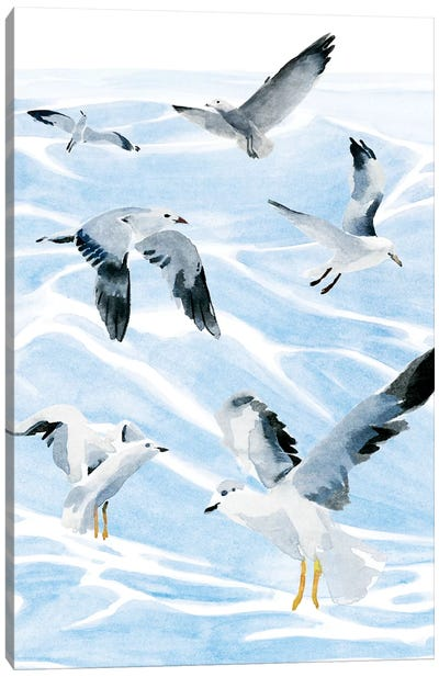 Seagull Soiree I Canvas Art Print
