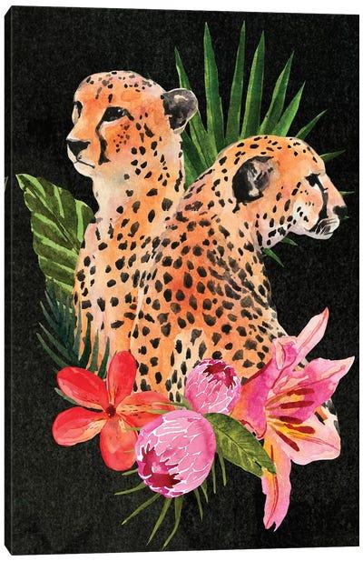 Cheetah Bouquet I Canvas Art Print
