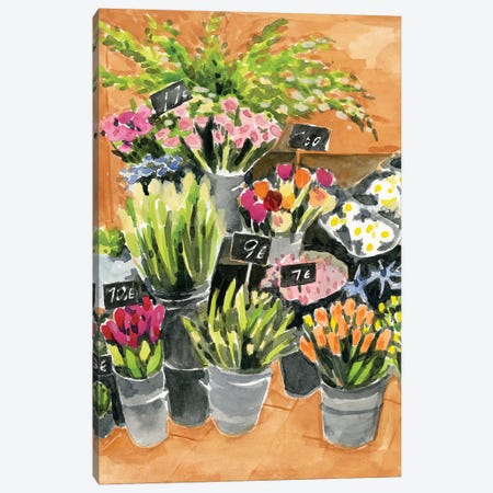 Street Florist I Canvas Print #AWR81} by Annie Warren Art Print