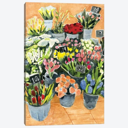 Street Florist II Canvas Print #AWR82} by Annie Warren Art Print