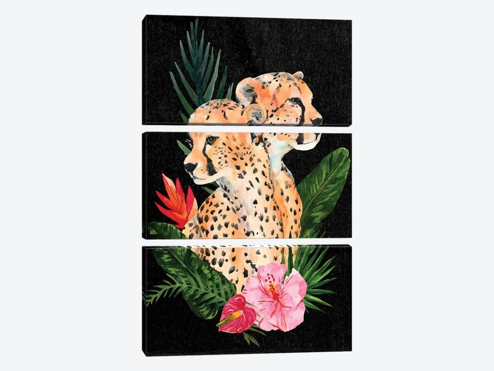 Cheetah Bouquet II by Annie Warren 3-piece Canvas Print