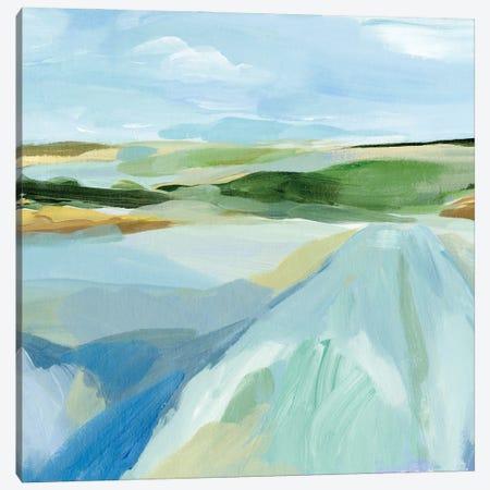 Sky Blue Fields I Canvas Print #AWR93} by Annie Warren Canvas Artwork