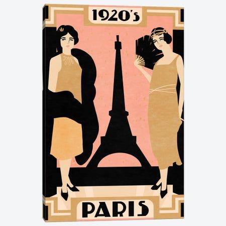 1920's Paris I Canvas Print #AWR99} by Annie Warren Canvas Art