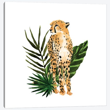 Cheetah Outlook I 3-Piece Canvas #AWR9} by Annie Warren Canvas Artwork