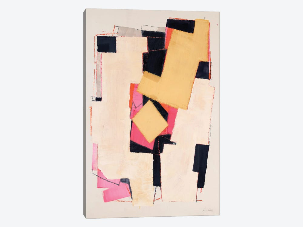 Pink Tumbling by Annabel Andrews 1-piece Canvas Wall Art