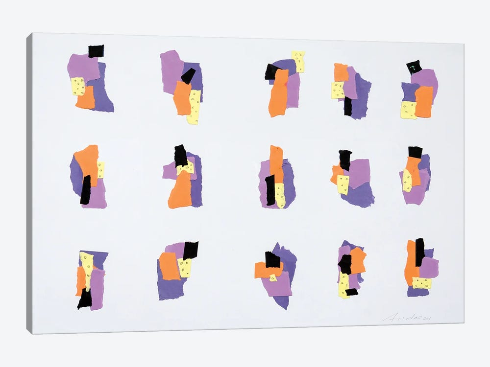 Collage Colour Fields VII by Annabel Andrews 1-piece Canvas Wall Art