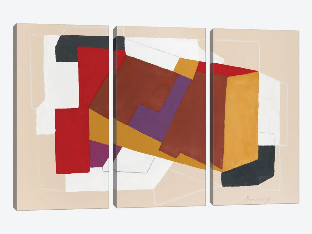 Broken Perspective by Annabel Andrews 3-piece Canvas Print
