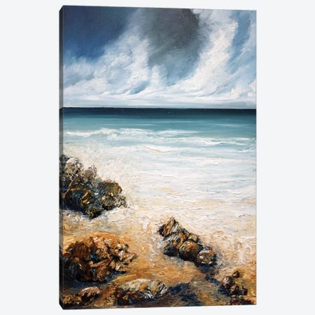 Dreaming Of The Ocean Canvas Print #AWT14} by Amanda Wathen Art Print