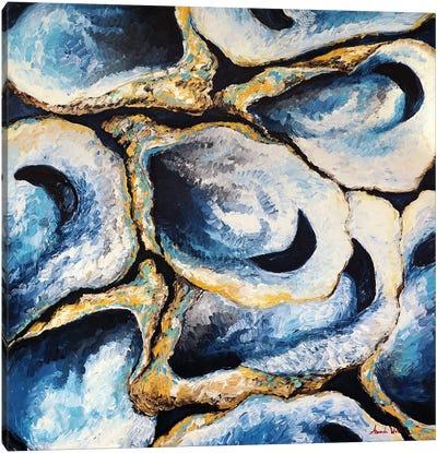 Oyster Love Canvas Art Print