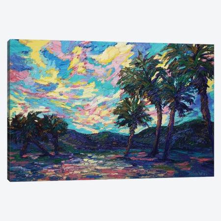 Tropical Oasis Canvas Print #AWT6} by Amanda Wathen Canvas Print
