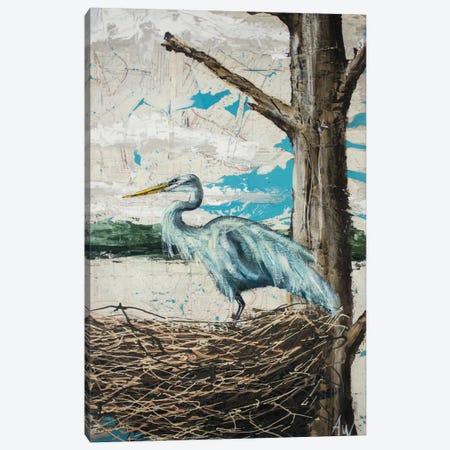Midway Heron I Canvas Print #AWY1} by Allison Wickey Canvas Art Print