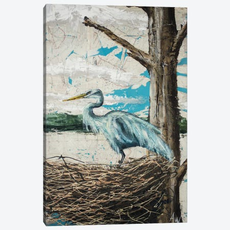 Midway Heron I Canvas Print #AWY1} by Allison Wickey Canvas Art Print