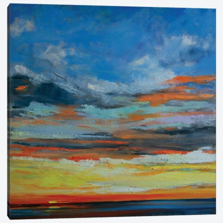 Hermosa Beach Sunset Canvas Print #AXF15} by Alexi Fine Art Print