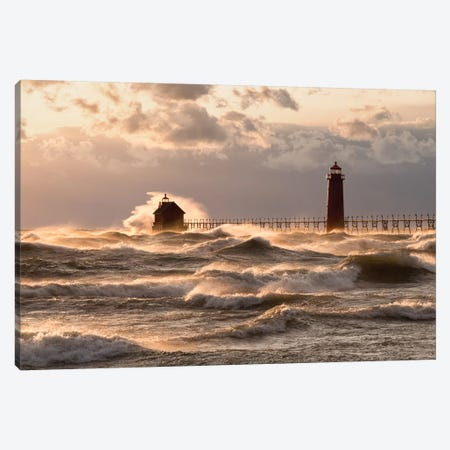 Raging Lake Canvas Print #AXL3} by Alex Li Canvas Art
