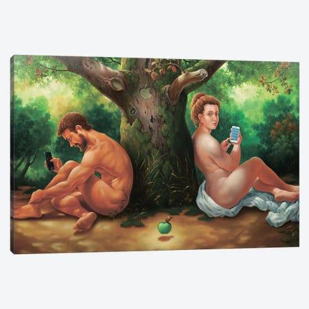 Jobs Apple Canvas Print #AXM4} by Alexander Mikhalchyk Canvas Wall Art