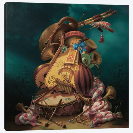Musician 3-Piece Canvas #AXM5} by Alexander Mikhalchyk Canvas Art