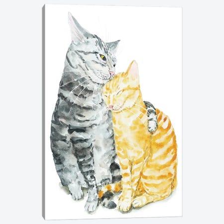 Cat Couple Canvas Print #AXS19} by Alexey Dmitrievich Shmyrov Art Print