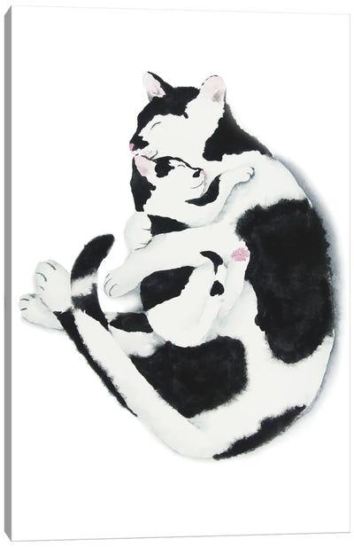 Cat Mom And Kitten Canvas Art Print
