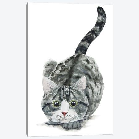 Hunting Tabby Cat Canvas Print #AXS35} by Alexey Dmitrievich Shmyrov Canvas Wall Art